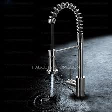 kitchen faucets with sprayer commercial style stainless steel kitchen faucets with sprayer