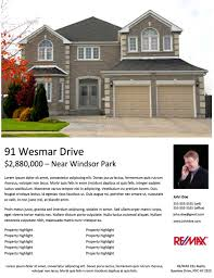 real estate flyer examples real estate flyer templates 29doors