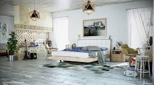 bedroom large bedroom features light wooden platform bed with