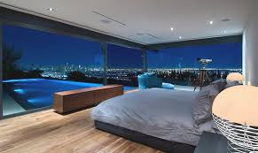 california bedrooms bedroom with pool and view in hollywood hills of california usa