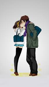 wallpaper anime lovers anime lovers kissing wallpaper free iphone wallpapers