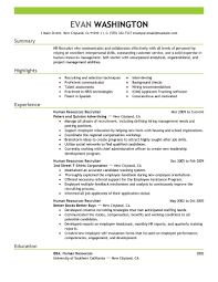 Sample Resume Objectives Human Resources by Recruiter Sample Resume Resume For Your Job Application