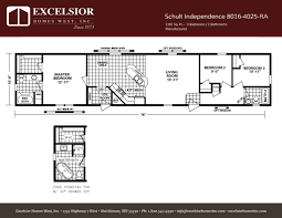 schult modular home floor plans schult independence 8016 4025 excelsior homes west inc