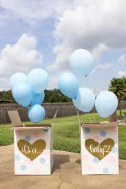 balloons in a box gender reveal it s a gender reveal balloon box sign chalkboard gender