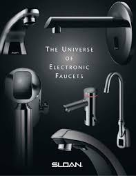 Sloan Solar Powered Faucet The Universe Of Electronic Faucet Sloan Pdf Catalogues