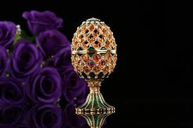 qifu luxury russia style faberge egg ornaments miniatures home