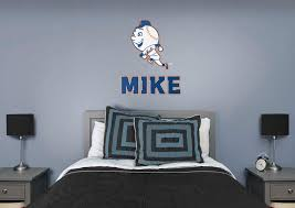 new york mets mr met stacked personalized name wall decal shop new york mets mr met stacked personalized name fathead wall decal