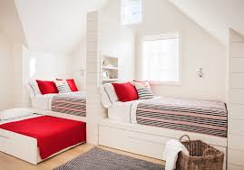 built in bed with trundle bed cottage u0027s room