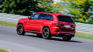 jeep grand cherokee red interior jeep grand cherokee trackhawk 2017 review by car magazine