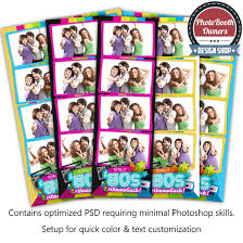 totally 80s cd totally 80s 4 up strips photo booth template