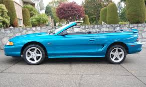 1994 ford mustang convertible top teal blue 1994 ford mustang gt convertible mustangattitude com