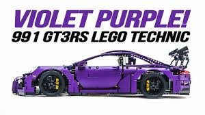 porsche lego porsche 911 991 gt3rs lego technic in custom violet purple youtube