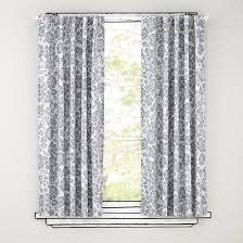 Curtains White And Grey Gray Drapery Panels White And Grey Floral Blackout Curtains Grey