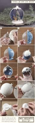 tutorial snow globe ornament snow globes