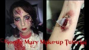 bloody mary halloween make up tutorial youtube