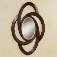 classy brown wooden artwork wall mirrors frames as inspiring wall