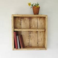 Box Shelves Wall by Wooden Box Wall Shelf