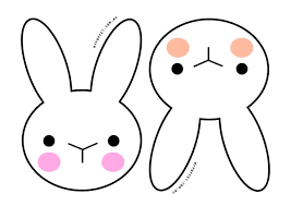 easter bunny face outlines u2013 happy easter 2017