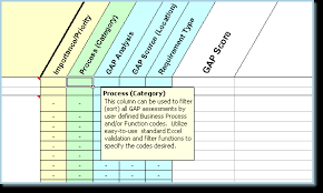 Requirements Template Excel Software Requirements Checklist Fit Gap Analysis Select
