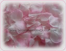 Silk Rose Petals Decorative Water Crystals