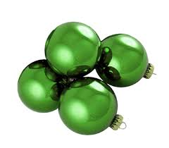 pack of 4 shiny dasher green glass ornaments 4