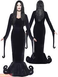mens ladies gomez morticia couples costume halloween fancy