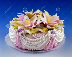 inspirational happy birthday flowers and cake concept best