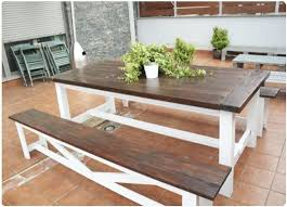 dark brown and white picnic table projects for my hubby