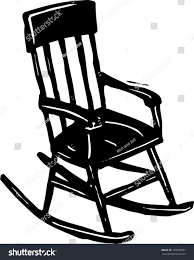 White Rocking Chair Black White Vector Illustration Rocking Chair Stock Vector