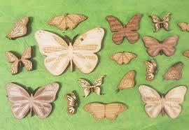 assorted wood butterflies 3d laser cut set of 10 engraved wooden
