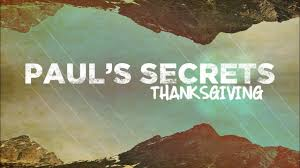 sermon paul s secrets thanksgiving
