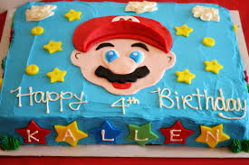 mario birthday cake mario brothers party happy birthday kallen in the
