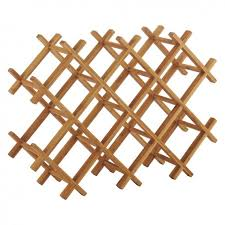panda wooden bamboo 10 bottle wine rack buy now at habitat uk
