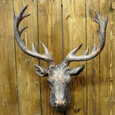 bronze painted deer stags head deer pinterest stag head