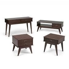 mid century end table draper mid century coffee table simpli home target