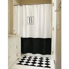 Monogram Shower Curtains Custom Shower Curtain Simplicity 2 Stripe Border With Or W O