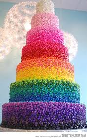 funny colors rainbow wedding cake the meta picture