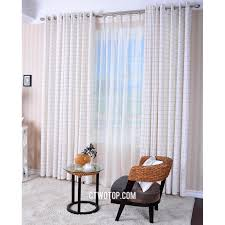 white plaid country room darkening rustic window curtains