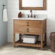 bathroom reclaimed pine wood bathroom vanity with vessel sink