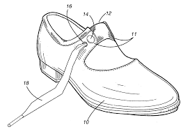 patent us20080168680 tap shoe with multiple fastening devices
