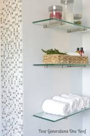 Glass Shelves For Bathroom Wall Cool Floating Glass Shelving Can Hold Up To 100 Lbs Not That I