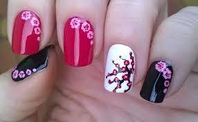 life world women cherry blossom nails toothpick nail art