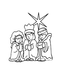 wisemen lead by the evening star coloring pages hellokids com