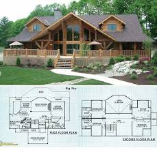 house plans log cabin log home floor plans with loft and garage deco 2 story small cabin
