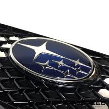 subaru rsti badge original factory subaru wrx sti front jdm grill at kamispeed com