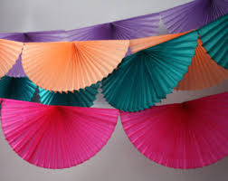 tissue paper streamers handmade party goods by pomlove on etsy