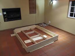 Diy King Size Platform Bed by Bed Frames Diy Platform Bed Plans Free Diy Platform Bed Frame
