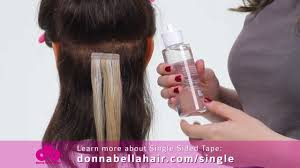 in hair extensions donna how to remove single sided hair extensions