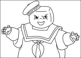10 images ghostbusters stay puft coloring pages ghostbusters