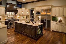 Traditional Kitchen Backsplash Ideas - dry stack slate kitchen backsplash kitchen traditional with light